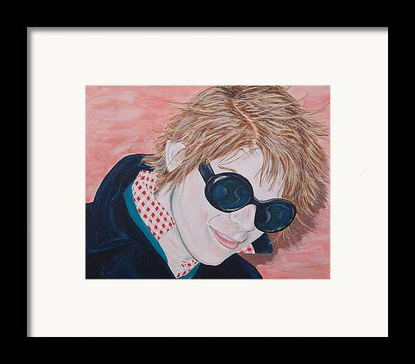 Portrait Framed Print featuring the painting Brad by Kevin Callahan