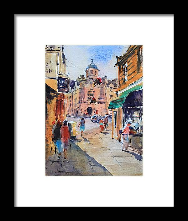 Bradford-on-avon Framed Print featuring the painting Bradford-on-avon by Ibolya Taligas