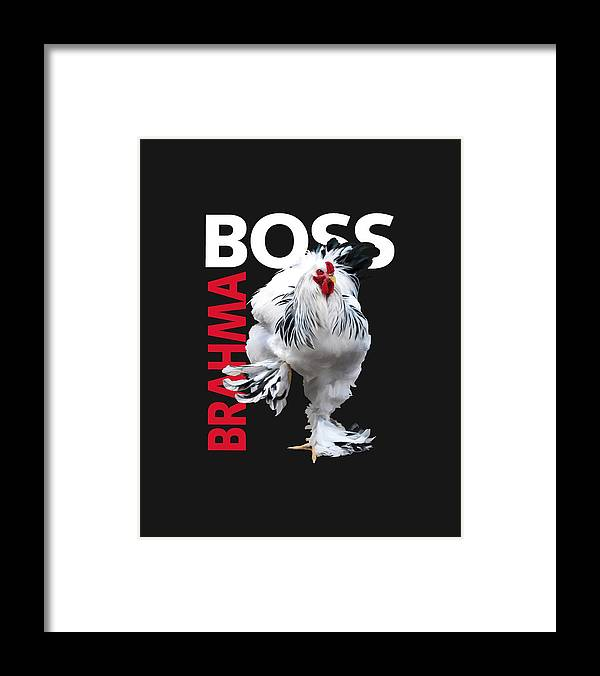 Light Brahma Framed Print featuring the digital art Brahma Boss II t-shirt print by Sigrid Van Dort