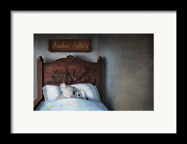 Koala Framed Print featuring the painting Brahms' Lullaby by Philippe Plouchart