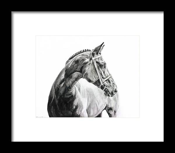 Horse Framed Print featuring the painting Braided I by Brittany Brett