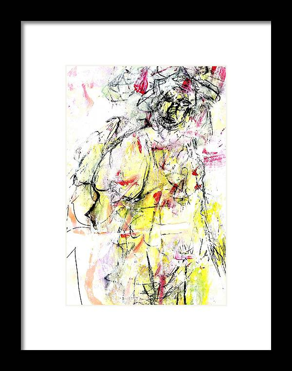 Abstract Framed Print featuring the painting Brainwashed Believer by Dr Ernest Williamson III