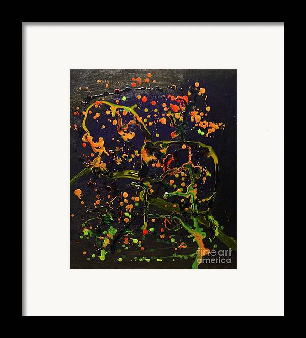 Abstract Framed Print featuring the painting Branch Meeting by Karen L Christophersen