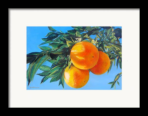 Floral Painting Framed Print featuring the painting Branche D by Muriel Dolemieux