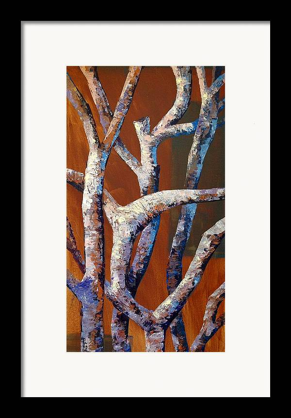 Acrylic Framed Print featuring the painting Branches by Cathy Fuchs-Holman