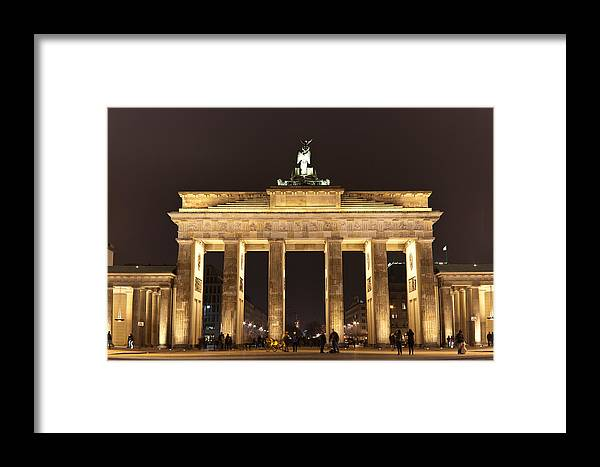 Brandenburg Gate Framed Print featuring the photograph Brandenburg Gate by Mike Reid