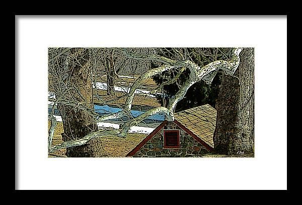 Brandywine Pennsylvania Springhouse Snowy Rural Country Battlefield Historic Gordon Beck Art Framed Print featuring the photograph Brandywine Springhouse by Gordon Beck