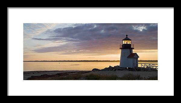 Nantucket Framed Print featuring the photograph Brant Point Dawn - Nantucket by Henry Krauzyk