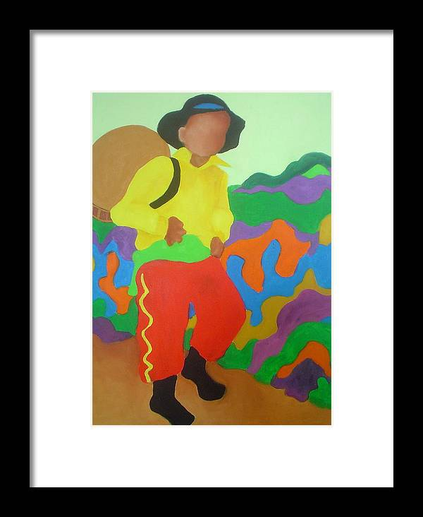 Brasil Framed Print featuring the painting Brasil Boy by Diana Ogaard