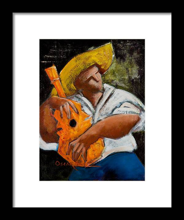 Puerto Rico Framed Print featuring the painting Bravado Alla Prima by Oscar Ortiz