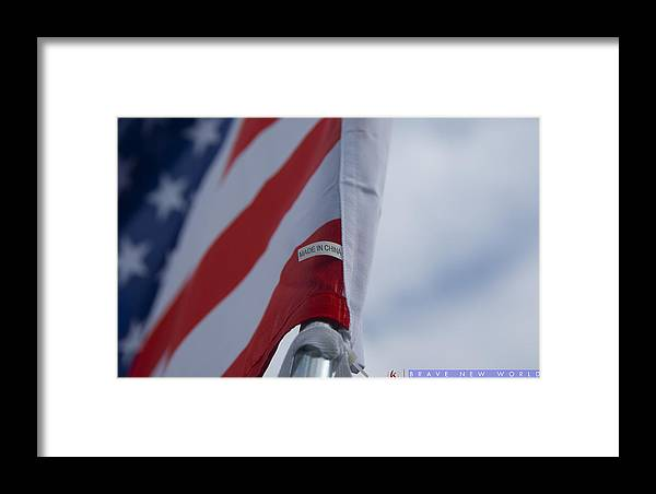 American Flag Framed Print featuring the photograph Brave New World by Jonathan Ellis Keys