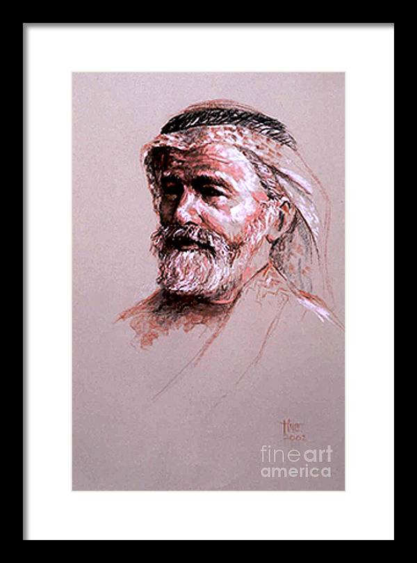 Portrait Framed Print featuring the painting Braving The Desert by Tina Siddiqui