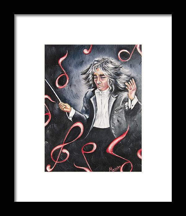 Musicien Framed Print featuring the painting Bravissimo by Madeleine Lasnier