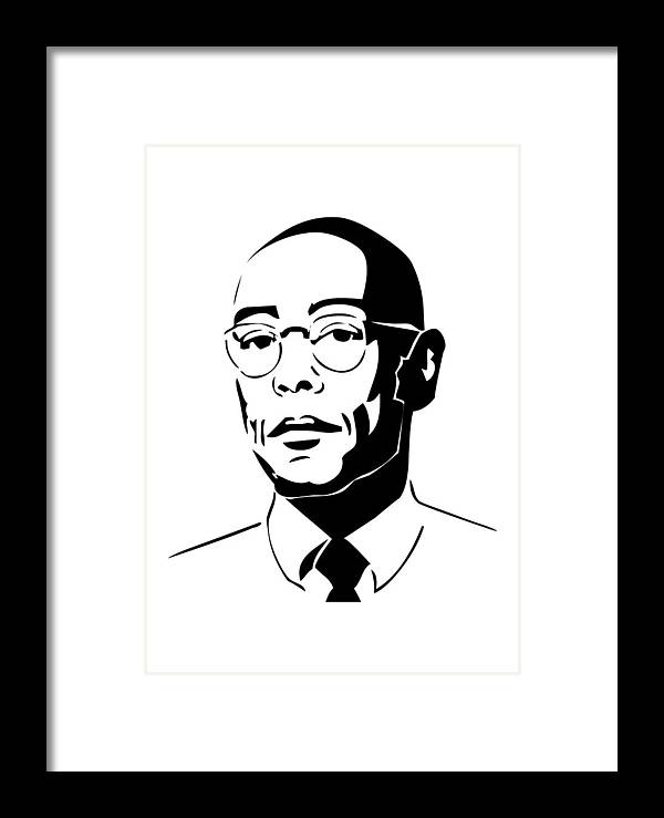 Brba Breaking Bad Gus Fring Framed Print by Geek N Rock