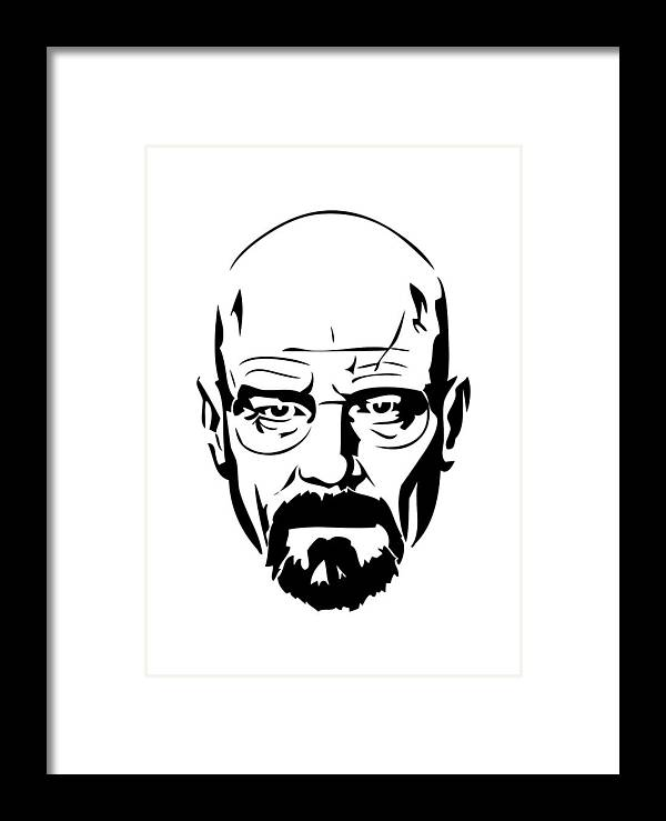 Brba Breaking Bad Heisenberg Framed Print by Geek N Rock