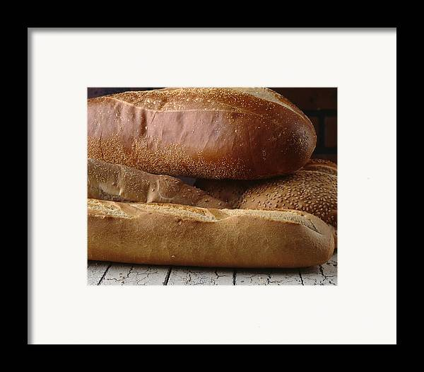 Bread Framed Print featuring the photograph Bread by Jessica Wakefield