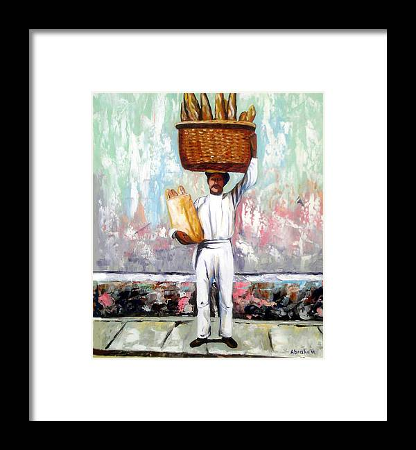 Bread Framed Print featuring the painting Breadman by Jose Manuel Abraham