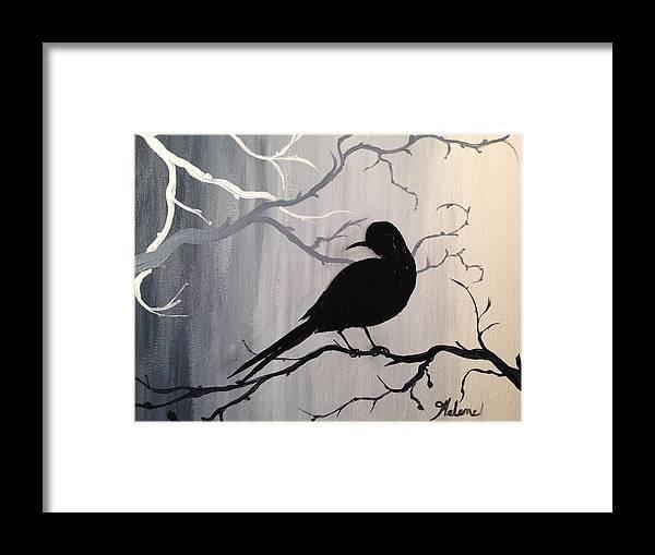 Break Of Day Shadow Bird Framed Print by Helene Thomason