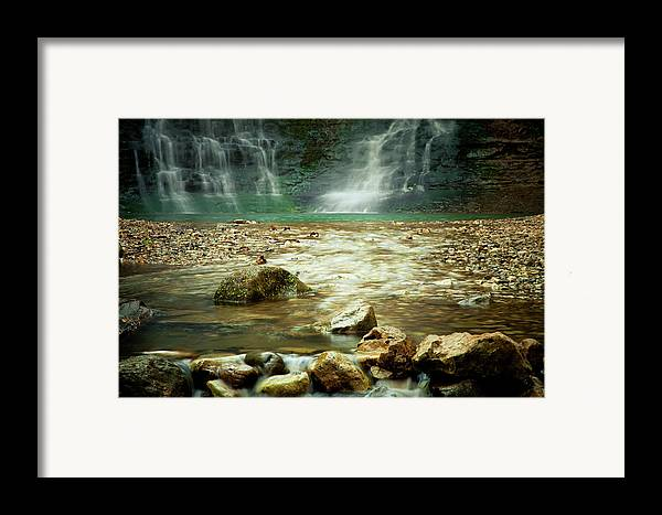 Landscape Framed Print featuring the photograph Break Of Silence by Iris Greenwell