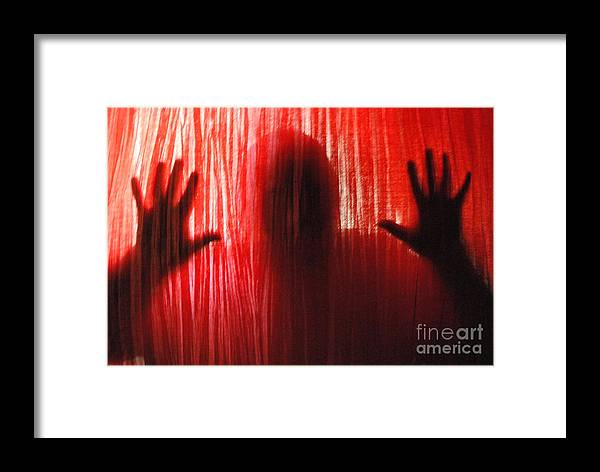 Person Framed Print featuring the photograph Break Through 01 by Sean-Michael Gettys