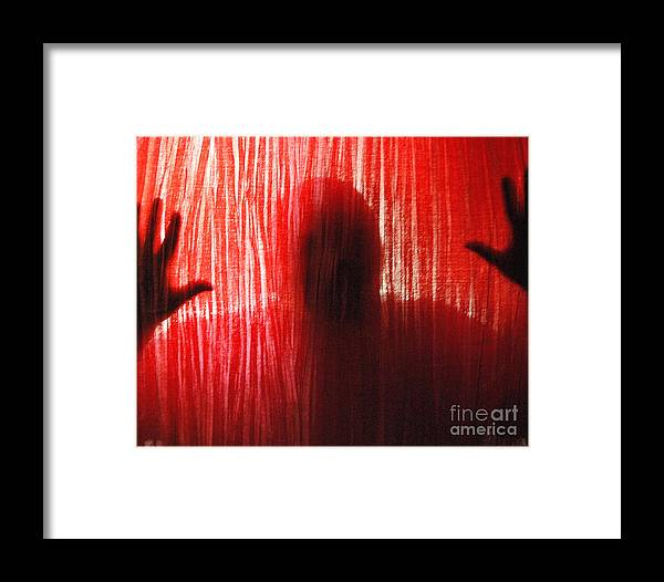 Person Framed Print featuring the photograph Break Through 02 - Other Side by Sean-Michael Gettys