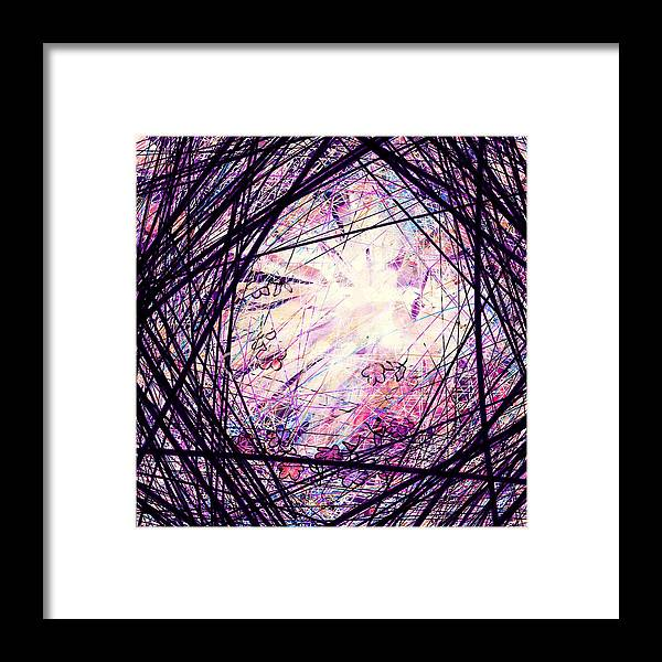 Abstract Framed Print featuring the digital art Breakdown by William Russell Nowicki