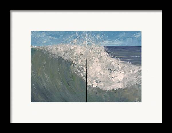Ocean Framed Print featuring the painting Breaker Ll by Pete Maier