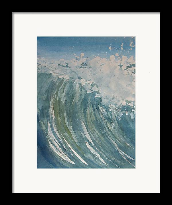 Ocean Framed Print featuring the painting Breaker by Pete Maier