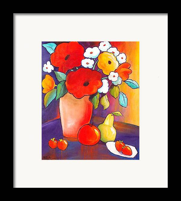 Painting Framed Print featuring the painting Breakfast In Tahiti by Carrie Allbritton