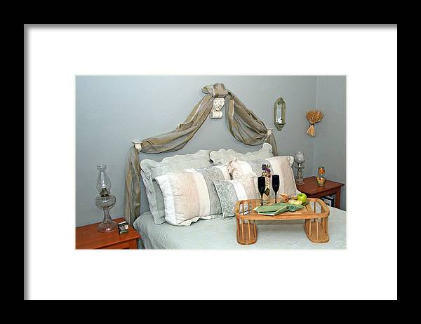 Breakfast In Bed Framed Print featuring the photograph Breakfast Is Served With Style by Amelia Painter