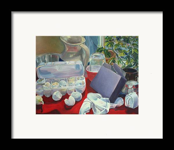 Still Life Framed Print featuring the painting Breakfast Tablescape by Stephanie Allison