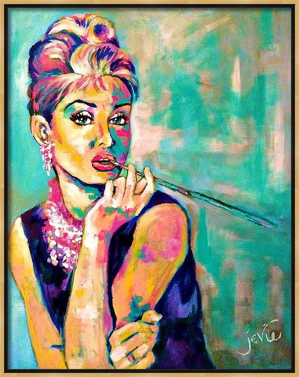 Audrey Hepburn Painting, Breakfast at Tiffany's by Jevie Stegner
