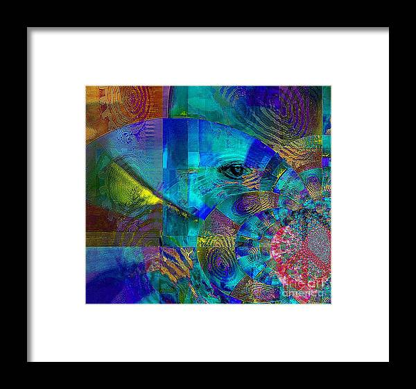Fania Simon Framed Print featuring the mixed media Breaking Borders by Fania Simon