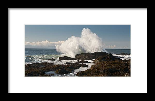 Shoreline Framed Print featuring the photograph Breaking On The Shore by Chad Davis