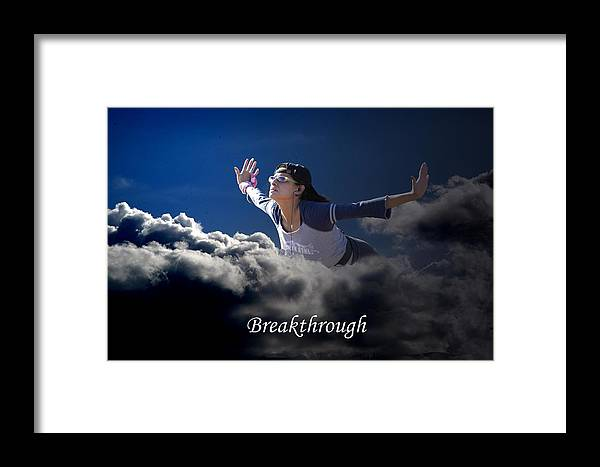 Sky Framed Print featuring the photograph Breakthrough by Richard Gordon