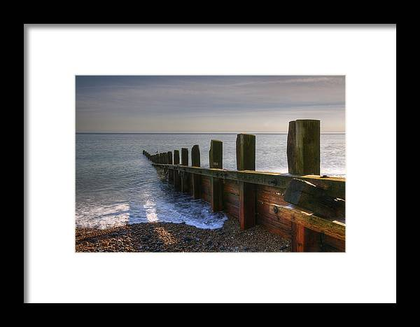 Breakwater Framed Print featuring the photograph Breakwater by Jan Carr