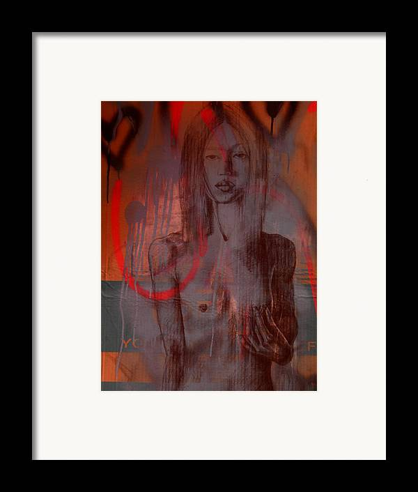 Breast Cancer Framed Print featuring the mixed media Breast Cancer Examination by J Oriel