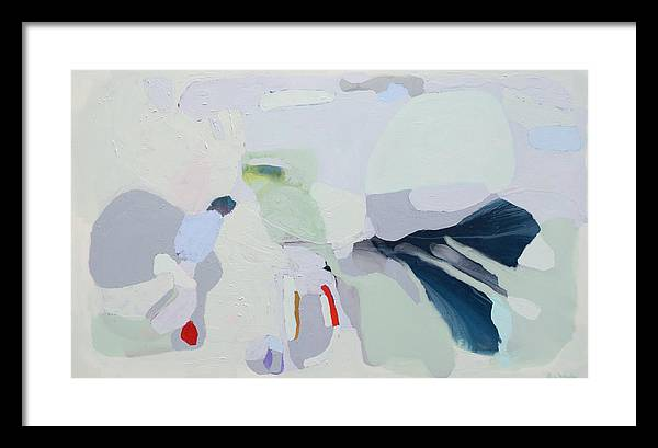 Abstract Framed Print featuring the painting Breathe by Claire Desjardins
