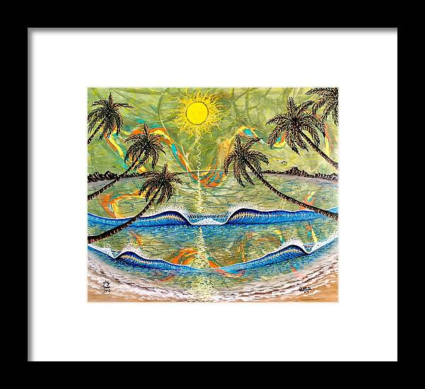 Breathe Framed Print featuring the painting Breathe In Clarity by Paul Carter