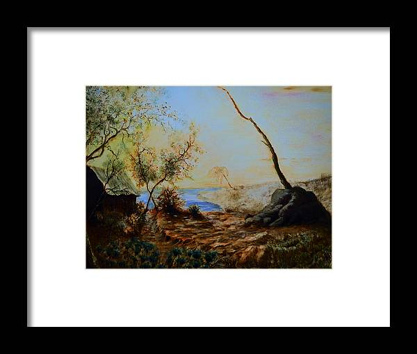 Hill Framed Print featuring the painting Breathing Freely by Abey Mekonnen