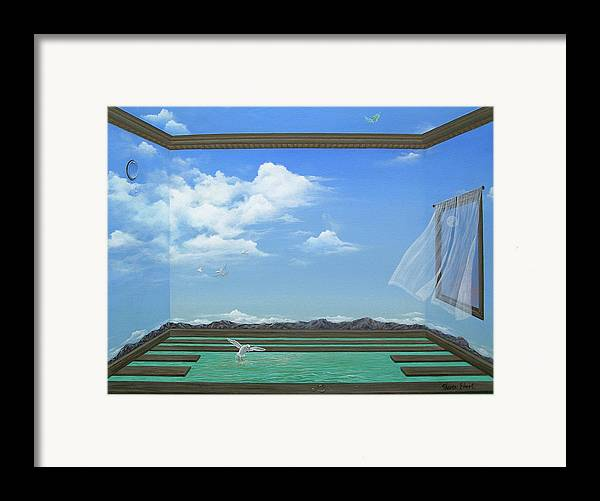 Surreal Painting Framed Print featuring the painting Breathing Room by Sharon Ebert