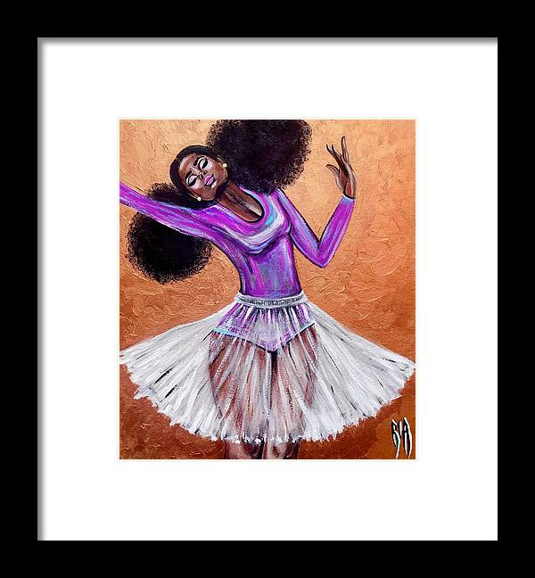 Ballerina Framed Print featuring the painting Breathtaking moments by Artist RiA