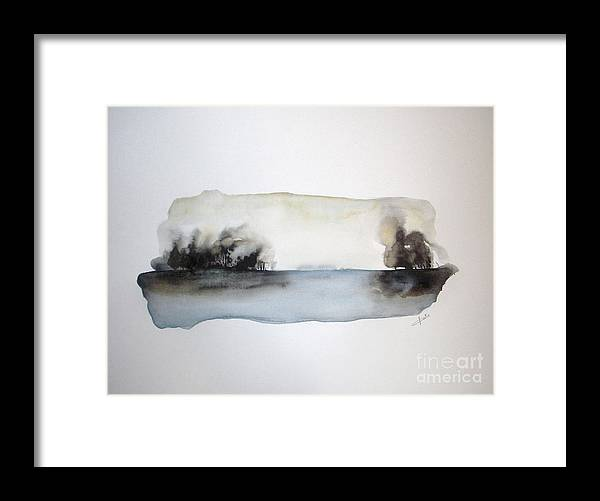 Watercolor Framed Print featuring the painting Breeze by Vesna Antic