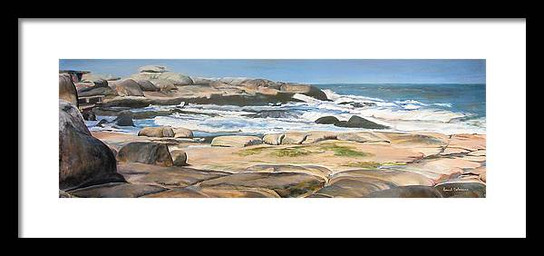 Paysage Framed Print featuring the painting Bretagne 2 by Muriel Dolemieux