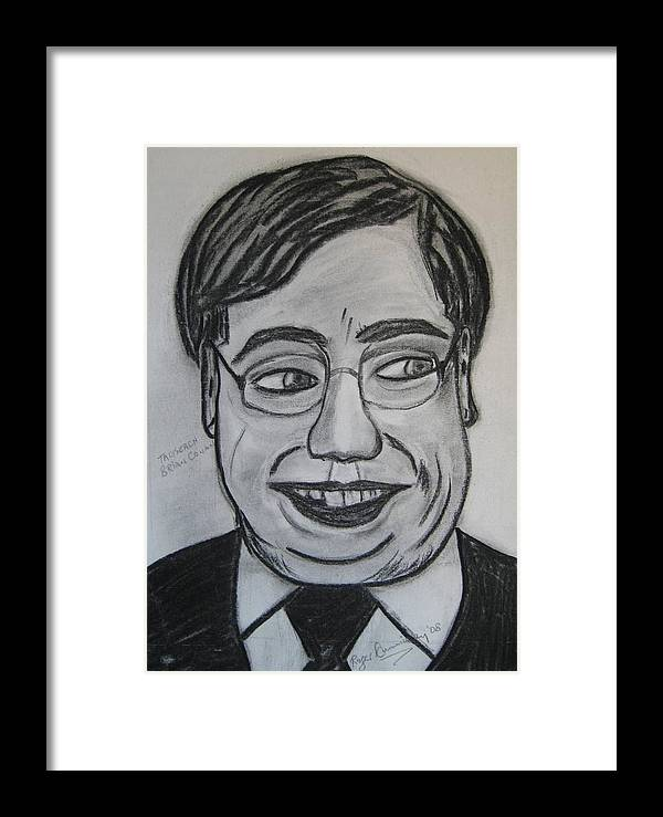Art Artroger Roger Cummiskey Charcoal Framed Print featuring the painting Brian Cowan by Roger Cummiskey
