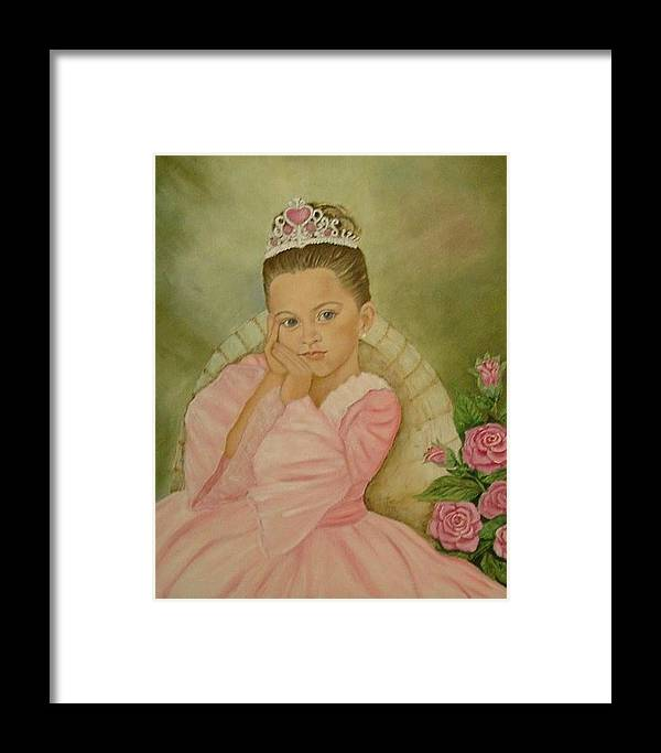 Princess Framed Print featuring the painting Brianna - The Princess by Tresa Crain