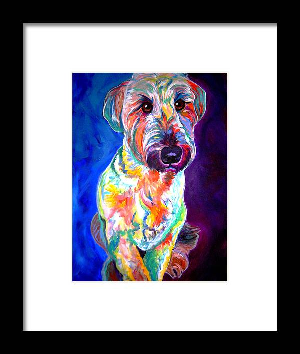 Briard Framed Print featuring the painting Briard - Albert by Alicia VanNoy Call