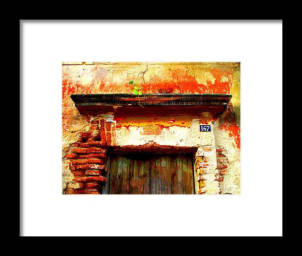 Darian Day Framed Print featuring the photograph Brick And Wood By Darian Day by Mexicolors Art Photography
