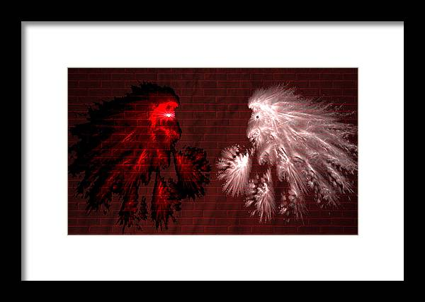 War Framed Print featuring the digital art Brick Graffiti by Evelyn Patrick