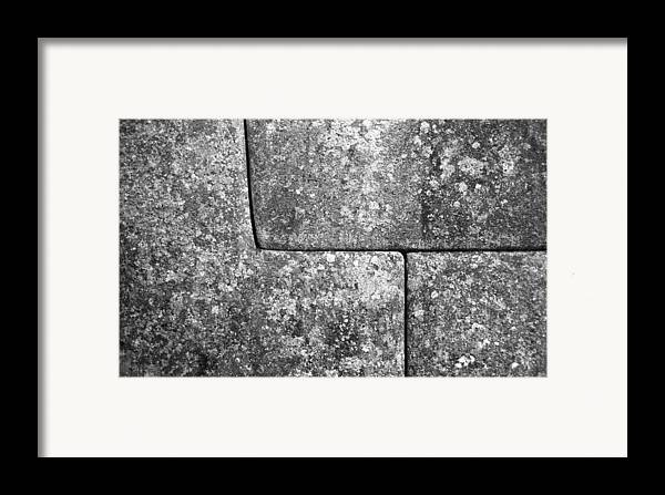 Machu Picchu Framed Print featuring the photograph Brick Joints by Marcus Best